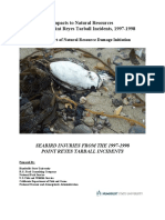 2003 Seabird Injuries from 1997-1998 Point Reyes Tarball Incidents