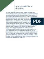 La Familia y El Modelo de La Familia de Nazaret