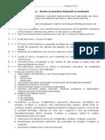 Subiecte teza Teorie si practica instruirii si evaluarii