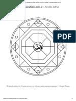 Mandala Sathya Mandala Para Pintar Inspirado en Honor de Sai Baba - Mandalasparatodos.com