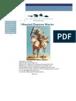 Mounted Cheyenne - SK Miniatures
