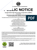 OBRC Public Notice for Beaverton Recycling Center