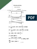 Exemplu proiect de calculul grinzilor