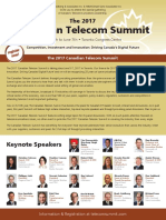 The 2017 Canadian Telecom Summit brochure