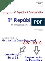História- Da I Republica à Ditadura Militar 11º