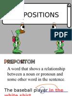 Prepositions Prepositional Phrases
