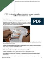 INTT_ Certificación de Datos Con Efectos Consulares Permite Conducir en Cualquier Otro País _ Instituto Nacional de Transporte Terrestre