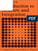 Introduction to Measure and Integration, S. J. Taylor