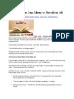 10 Keutamaan Ilmu Menurut Sayyidina Ali
