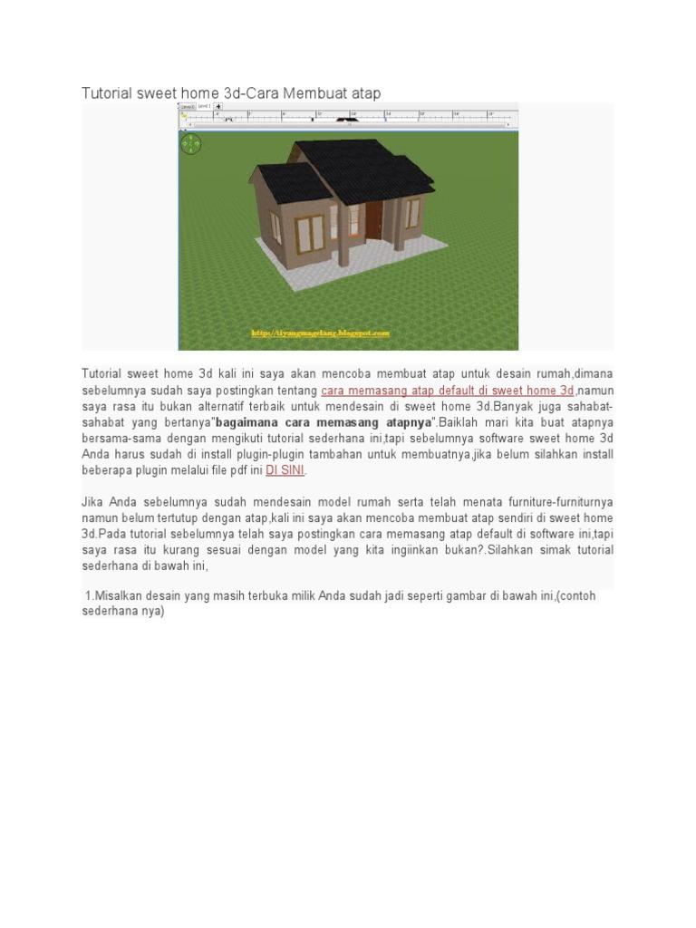 Tutorial Membuat Atap Sweet Home 3d