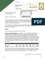 Finance Dept. Report