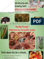 Seed Security and Growing Seed