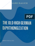Rauch - The Old High German Diphthongization (1967)
