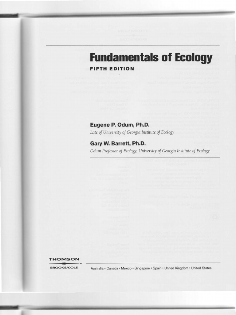 Odum fundamentals of ecology ecology reductionism fandeluxe Gallery