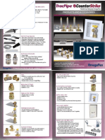 4 page color product brochure