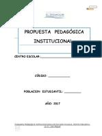 Propuesta Pedagógica Institucional 2017