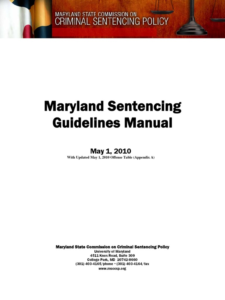 Md Sentencing Guidelines United States Federal Sentencing