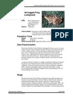 2006 Red-Legged Frog CEQA Report