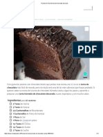 Receta de Torta Húmeda de Chocolate Decorada