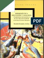 Hermenéutica, educación y analogía