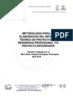 Abril 2016 Metodologia Residencia - Proyecto Integrador