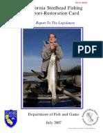 2007 California Steelhead Fishing Report-Restoration Card