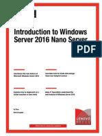Introduction to Windows Server 2016 Nano Server