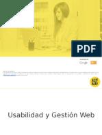 Usabilidad y Gestión Web