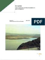 2008 Pescadero Marsh Restoration Report