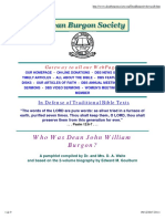 Who Was Dean John William Burgon