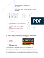 Prova Bimestral de Matemática 1