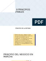 Los 9 Principios Contables