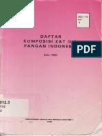 Daftar Komposisi Zat Gizi Pangan Indonesia 1995