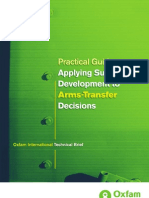 Applying Sustainable Development to Arms Transfer Decisions.2009.Oxfam