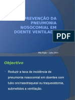Prevenção Da Pneumonia Nosocomial Em Doente Ventilado