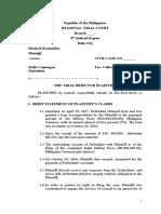 Pre Trial Brief for Plaintiff