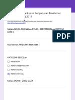 Laporan Jawatankuasa Pengurusan Maklumat Sekolah (JPMS) 2017