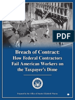 Federal Contractor Wage Theft & Abuse Report by Sen. Elizabeth Warren (D-MA)