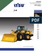 Brochure Whell Loader Komatsu WA380z
