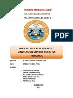 Derecho Procesal Penal y Su Vinculacion Con Los DDHH
