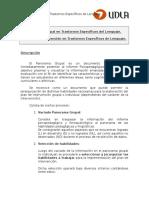 Pauta Plan de Intervencion y Panorama Grupal