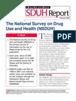 The National Survey on Drug Use and Health (NSDUH)