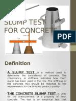 Slump Test for Concrete