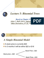 FinMath Lecture 5 Binomial Trees