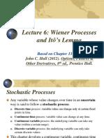 FinMath Lecture 6 Wiener Process