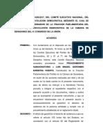 Acuerdo de remoción de Luis Miguel Barbosa