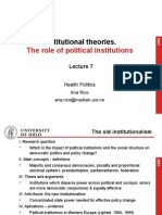 Health Politics-Lecture 7