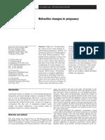 Refractive Changes in Pregnancy