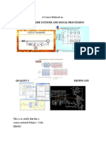 A Course Material on DSP