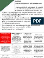 Día Del COLOR 2017 Instrucciones